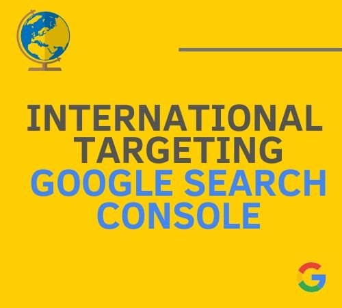 International targeting google search console